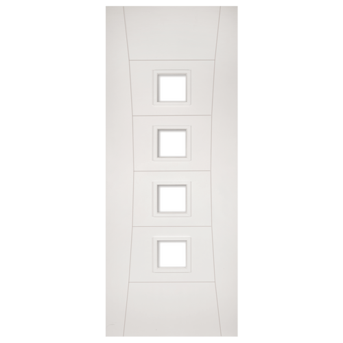 Pamplona White Primed Glazed Fire Door