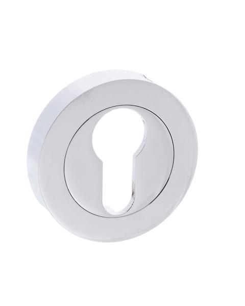 STATUS Euro Escutcheon on Round Rose - Polished Chrome