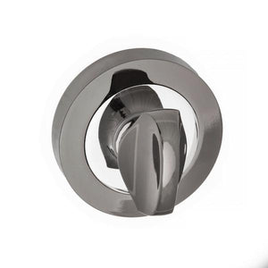 STATUS WC Turn and Release on Round Rose - Black Nickel/Polished Chrome