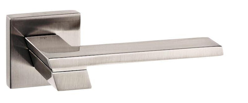 Senza Pari Giovanni Designer Lever on Square Rose - Satin Nickel
