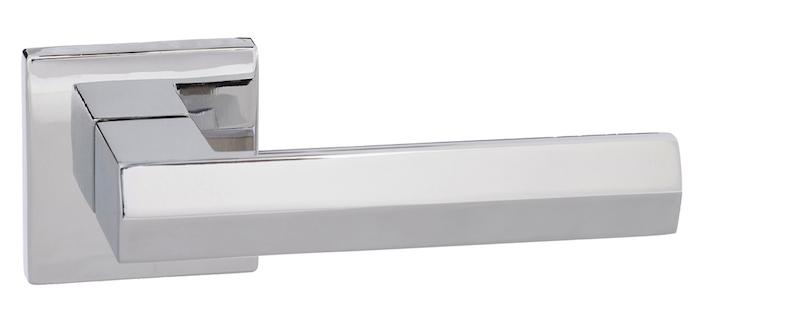 Senza Pari Davoli Designer Lever on Square Rose - Polished Chrome