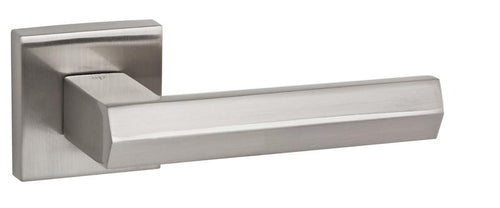 Senza Pari Davoli Designer Lever on Square Rose - Satin Nickel
