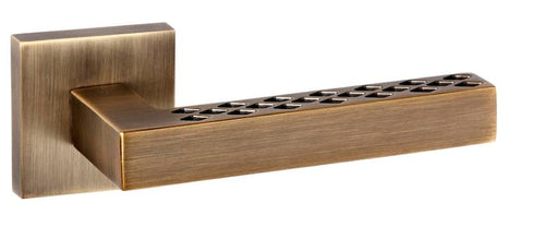 Senza Pari Pianni Designer Lever on Square Rose - Weathered Antique Bronze