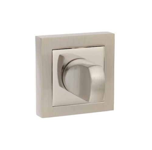 Senza Pari WC Turn and Release on Flush Square Rose - Satin Nickel/Polished Nickel