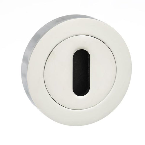 Senza Pari Key Escutcheon on Round Rose - Polished Chrome