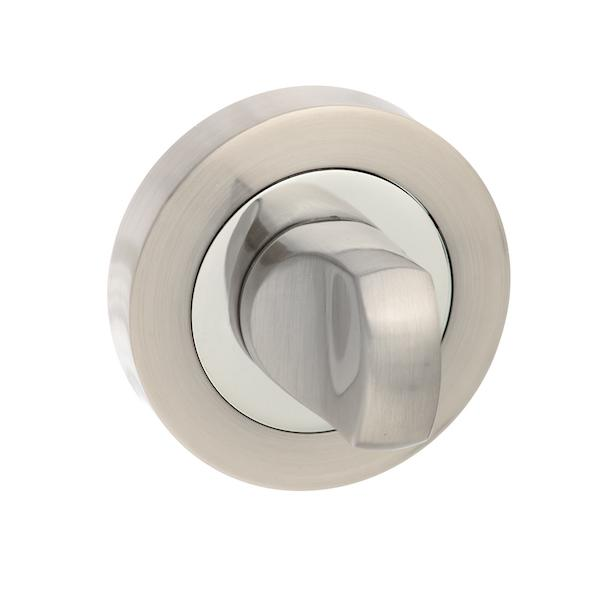 Senza Pari WC Turn and Release on Round Rose - Satin Nickel/Chome Plate