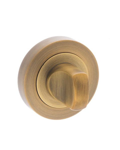 Senza Pari WC Turn and Release on Round Rose - Weathered Antique Bronze