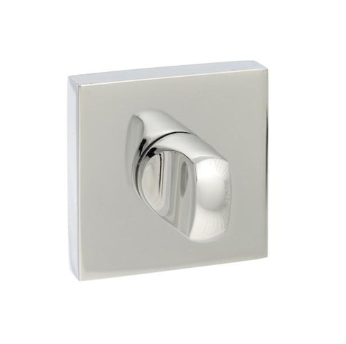 Senza Pari WC Turn and Release on Square Rose - Polished Chrome