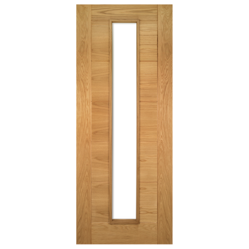 Seville Prefinished Oak UnGlazed Fire Door