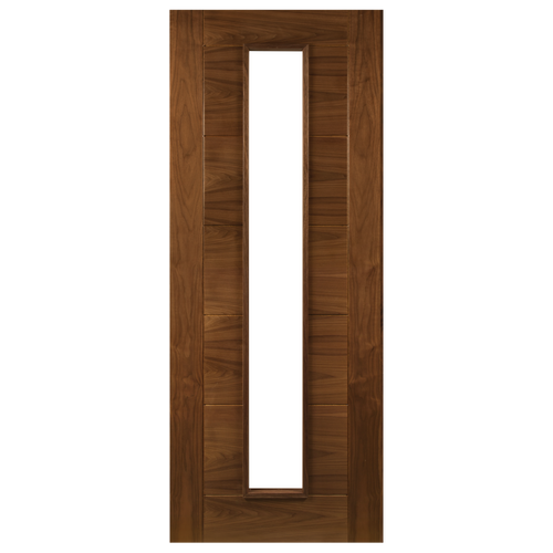 Seville Prefinished Walnut Glazed 1L Fire Door