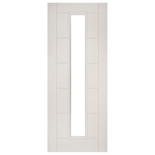 Seville White Primed Glazed 1L Fire Door