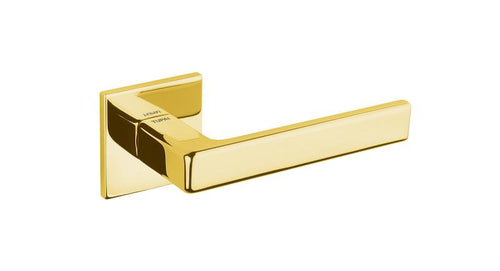 Tupai 5S Line 3095 Designer Lever on Square Rose - Polished Brass
