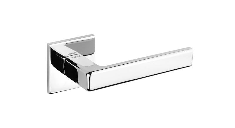 Tupai 5S Line 3095 Designer Lever on Square Rose - Polished Chrome