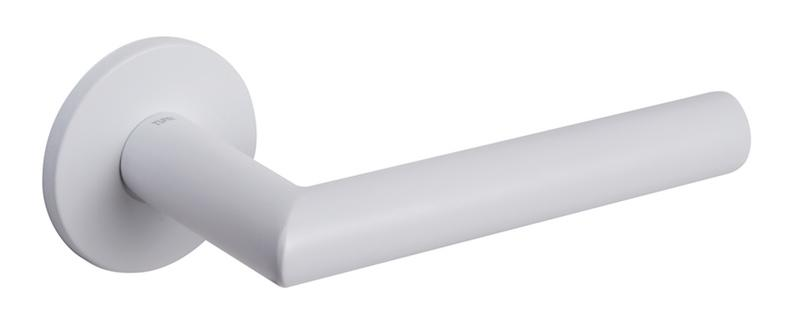 Tupai 5S Line 4002 Designer Lever on Round Rose - White