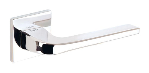 Tupai 5S Line 4007 Designer Lever on Square Rose - Polished Chrome