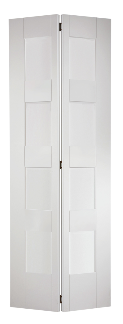 Shaker 4 Light Glazed Bi-Fold White