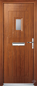 Rockdoor Ultimate - Cottage Spy View Clear Glazed Composite Door Set