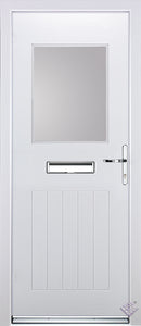 Rockdoor Ultimate - Cottage View Light Composite Door Set