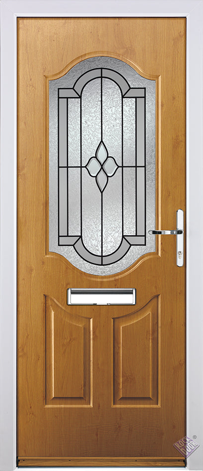 Rockdoor Ultimate - Georgia Northern Star Glazed Composite Door Set