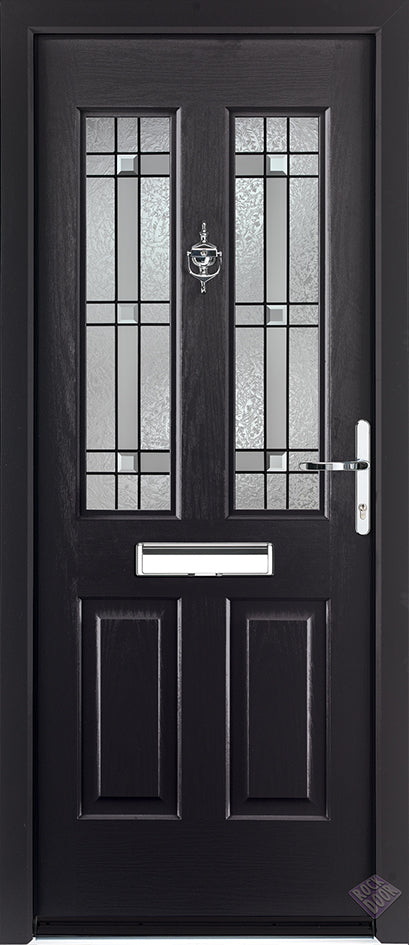 Rockdoor Ultimate - Jacobean Apollo Glazed Composite Door Set
