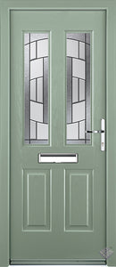 Rockdoor Ultimate - Jacobean Inspire Glazed Composite Door Set