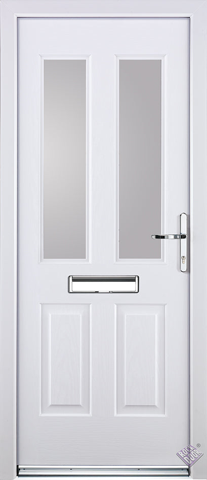 Rockdoor Ultimate - Jacobean Plain Glazed Composite Door Set