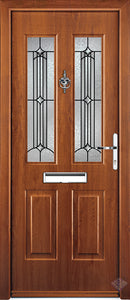Rockdoor Ultimate - Jacobean Scorpio Glazed Composite Door Set