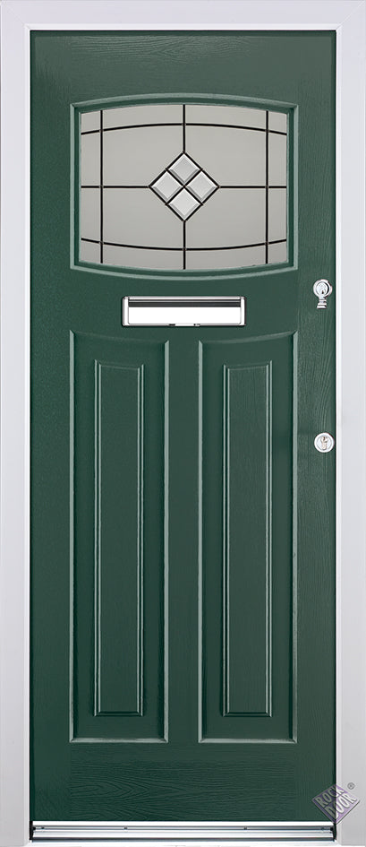 Rockdoor Ultimate - Newark Bright Star Glazed Composite Door Set