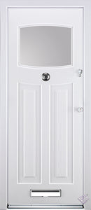 Rockdoor Ultimate - Newark Clear Glazed Composite Door Set