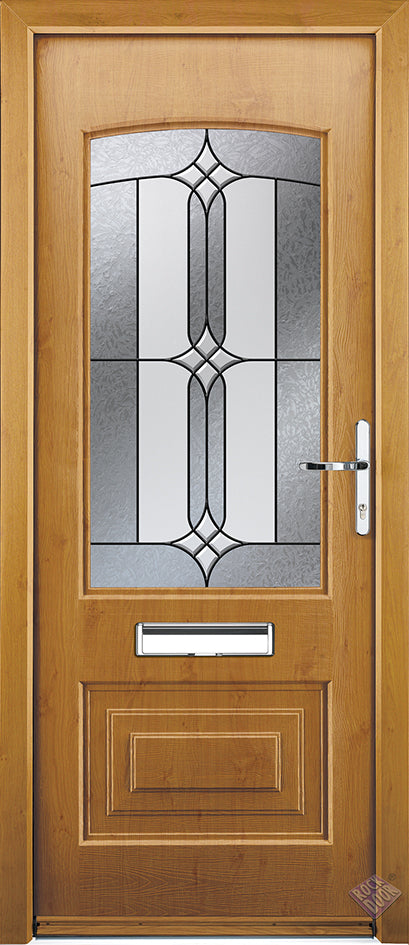 Rockdoor Ultimate - Portland Apostle Glazed Composite Door Set