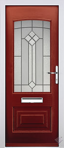 Rockdoor Ultimate - Portland Beacon Glazed Composite Door Set