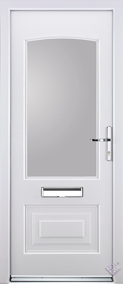 Rockdoor Ultimate - Portland Clear Glazed Composite Door Set