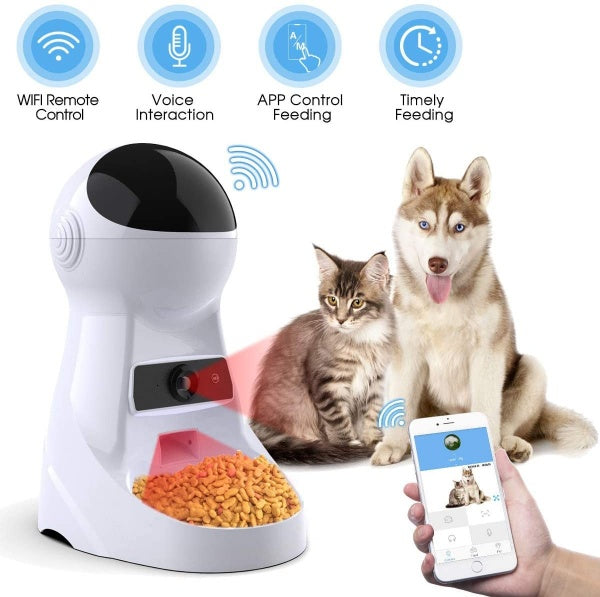 Smart Auto Pet Feeder - with Live HD video recorder