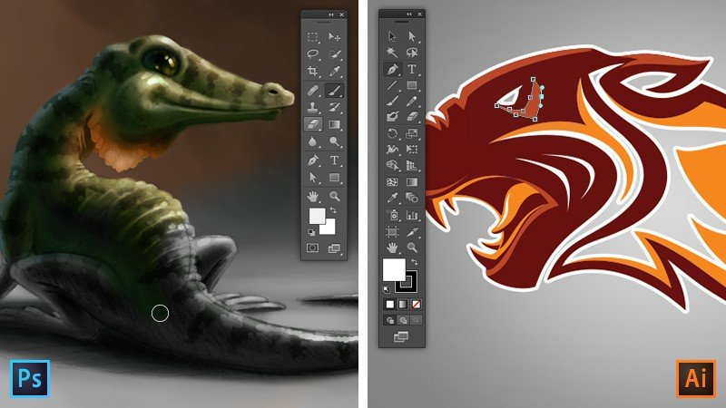 Difference Between Photoshop and Illustrator