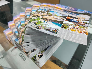 Flyer Brochure leaflet printing service in bangkok Thailand good quality fast delivery