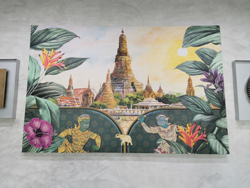 Photo Printing Canvas Print with Frame wall art printing service in bangkok Thailand good quality fast delivery