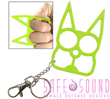 Load image into Gallery viewer, Safe N Sound Cat Keychain