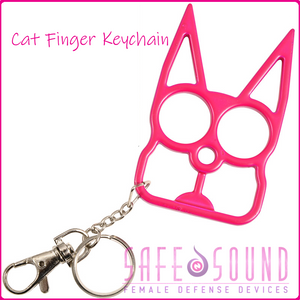 Safe N Sound Cat Keychain