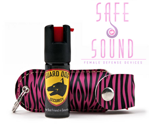 Personal Defense Pepper Spray OC-18 1/2 oz - Leather Case KeyRing