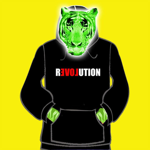 LADIES  HOODY - LOVE REVOLUTION