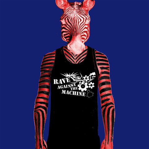 MENS SINGLET - RAVE AGAINST THE MACHINE