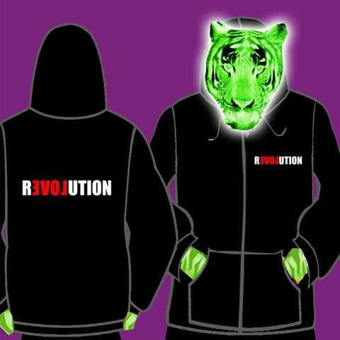 LADIES ZIPPED HOODY - LOVE REVOLUTION