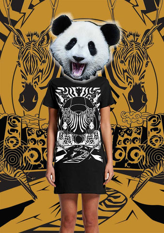 Dress Tees-Twin Zebras