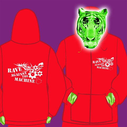 LADIES ZIPPED HOODY - RAVE AGAINST THE MACHINE