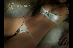 Milena white set with half cup bra