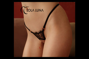 Milena black open string