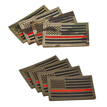 Thin Red Line Flag Patch 3.5""