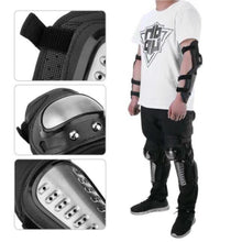 Load image into Gallery viewer, Pro Motorcycle Knee and Elbow Pads Protector 4 in 1 set