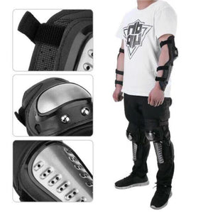 Pro Motorcycle Knee and Elbow Pads Protector 4 in 1 set
