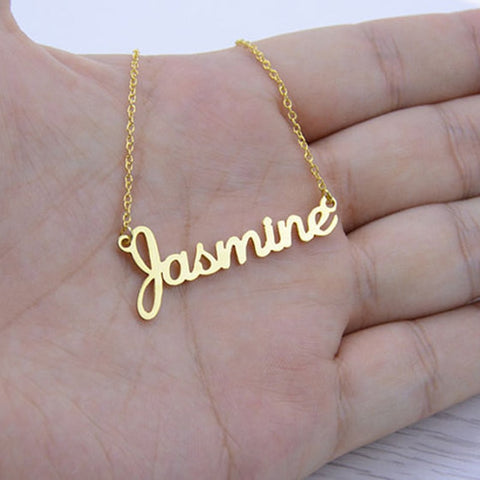 Gold Plated Custom Handwriting Necklace - My Custom Personalized Name Necklaces Bracelet Earrings